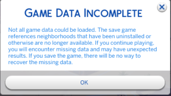 How to disable/uninstall individual DLC from The Sims 4. [UPDATED ON 16-03-2018] Game-data-incomplete_orig